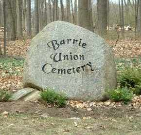 Cemetery of Barrie Union
